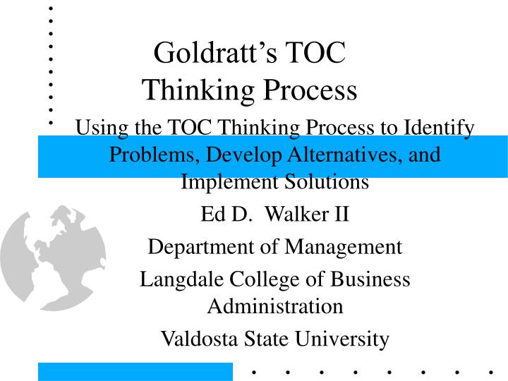 goldratt s toc thinking process n.
