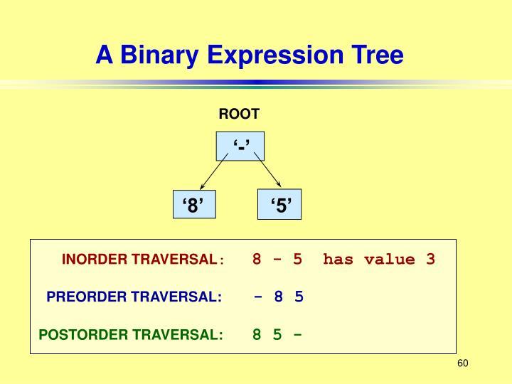 A Binary Expression Tree
