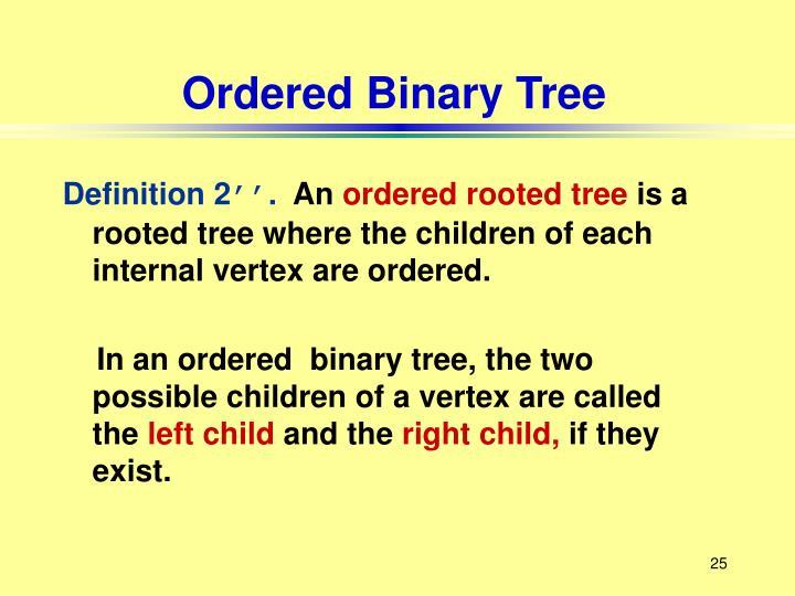 Ordered Binary Tree