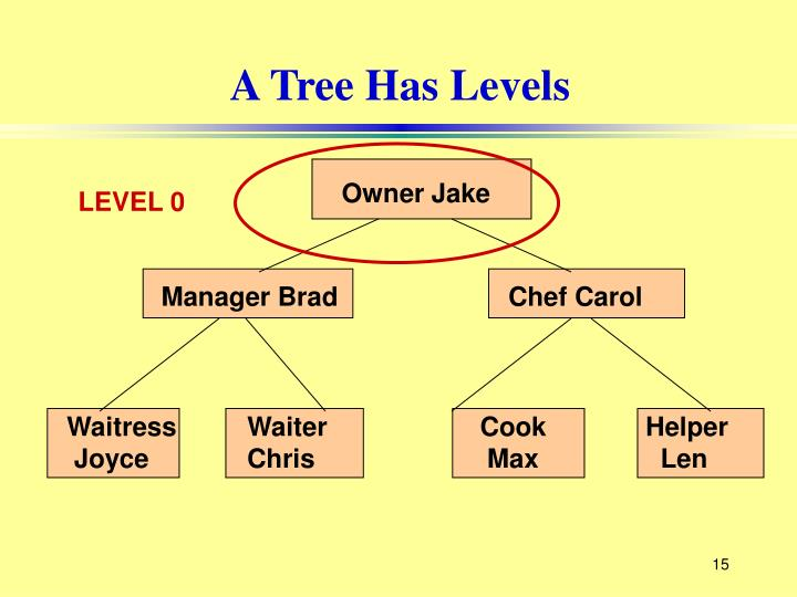 A Tree Has Levels