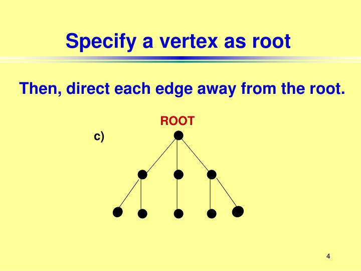 Specify a vertex as root