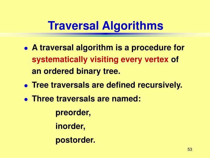 Traversal Algorithms