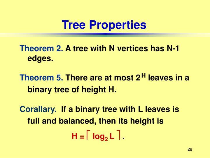 Tree Properties