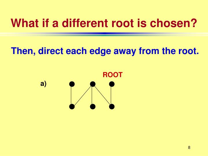 What if a different root is chosen?