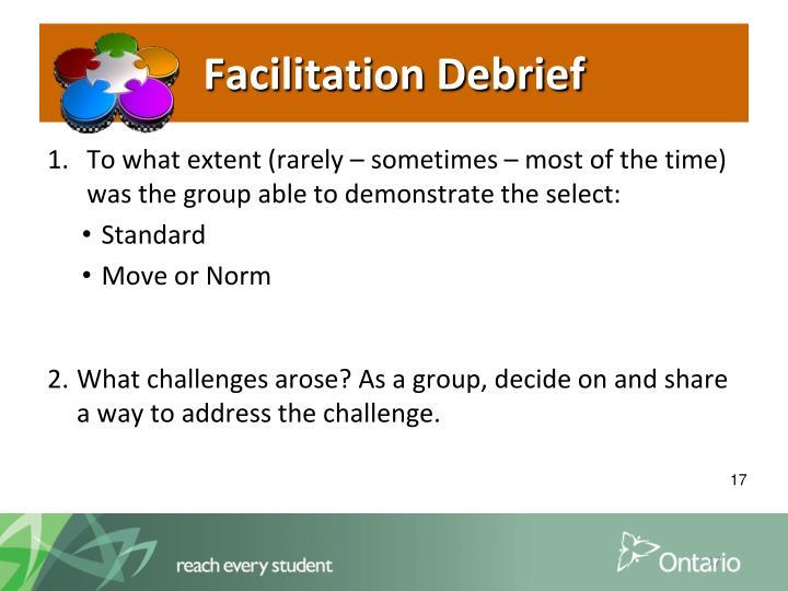 Facilitation Debrief
