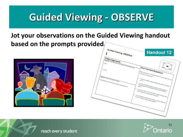 Guided Viewing - OBSERVE
