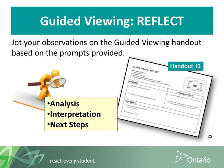 Guided Viewing: REFLECT