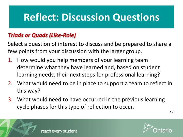 Reflect: Discussion Questions