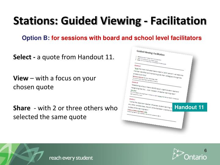 Stations: Guided Viewing - Facilitation