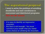 the aspirational proposal1