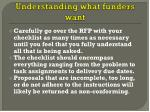 understanding what funders want1