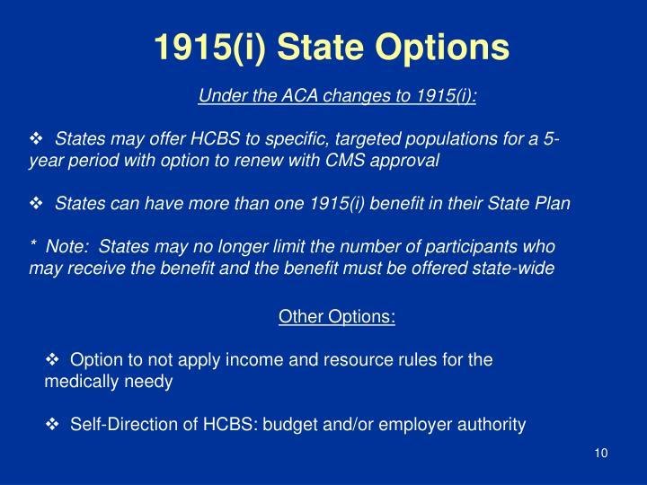 1915(i) State Options