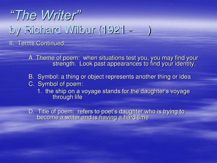 """The Writer"""