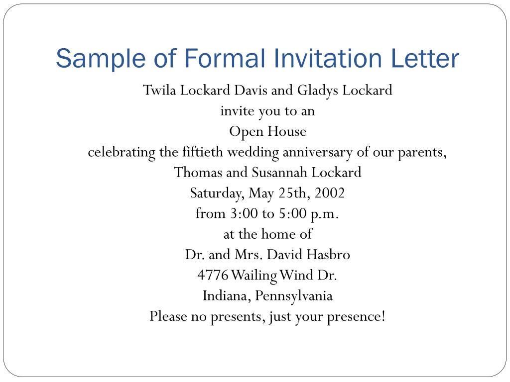 Ppt Invitation Letter Powerpoint Presentation Id 2995370