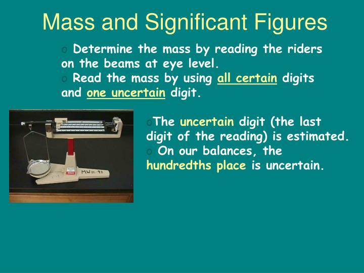 Mass and Significant Figures