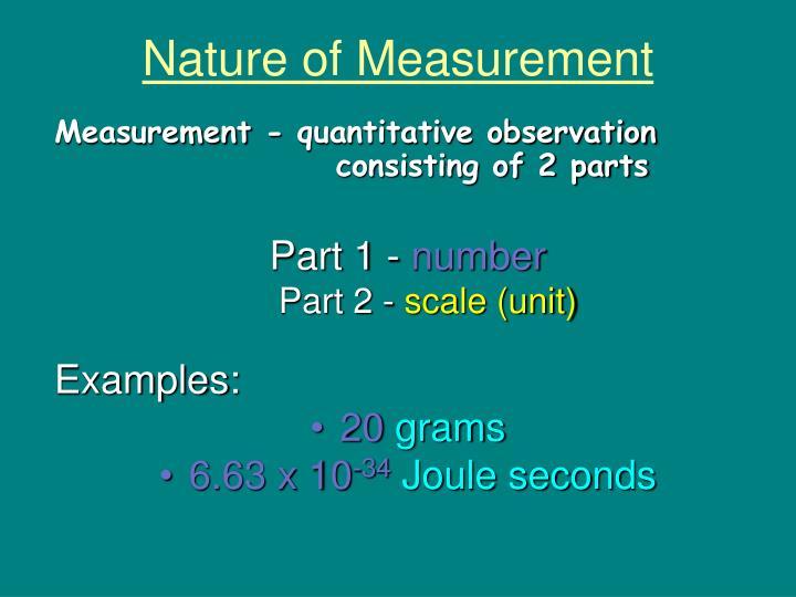 Nature of Measurement