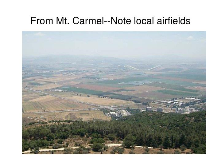 from mt carmel note local airfields n.
