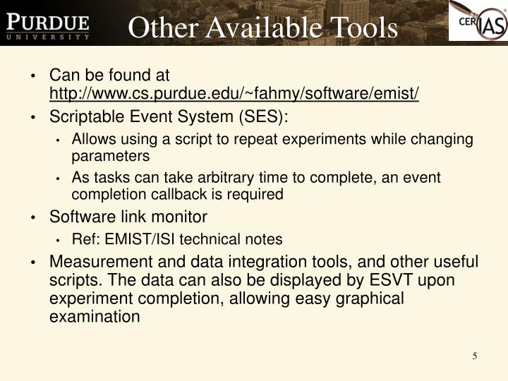 Other Available Tools