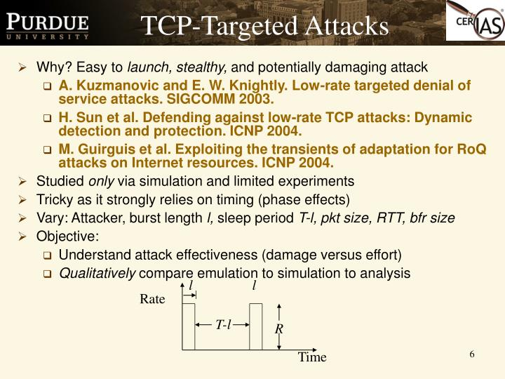 TCP-Targeted Attacks