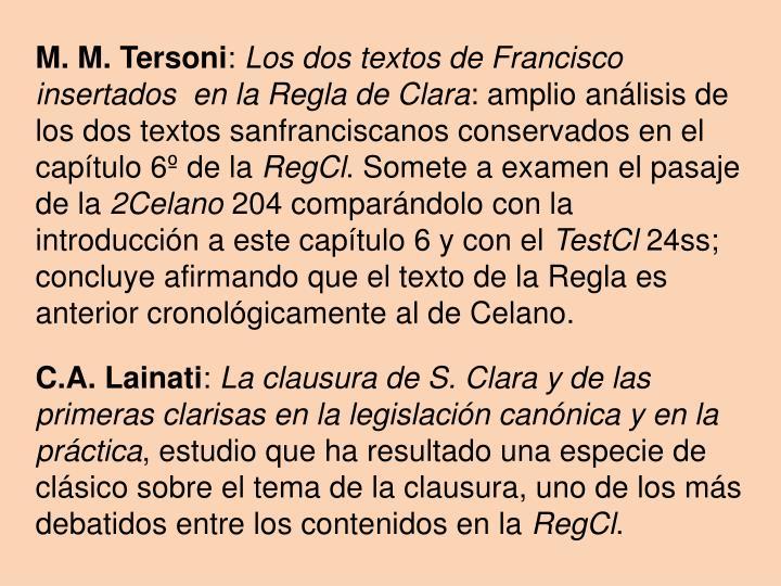 M. M. Tersoni