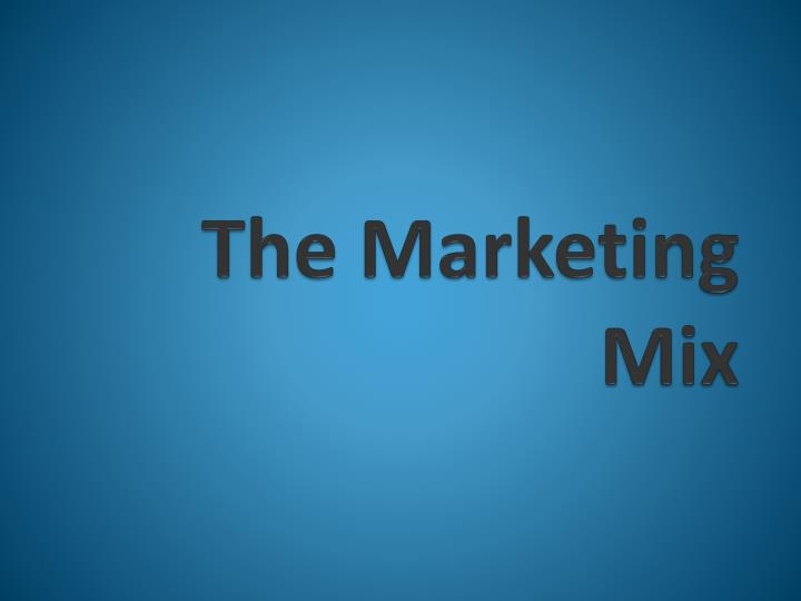 the marketing mix n.
