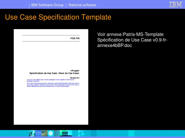 Use case specification template
