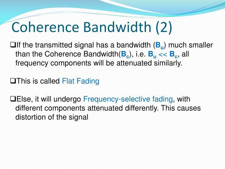 Coherence Bandwidth (2)