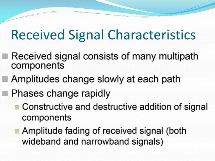 Received Signal Characteristics