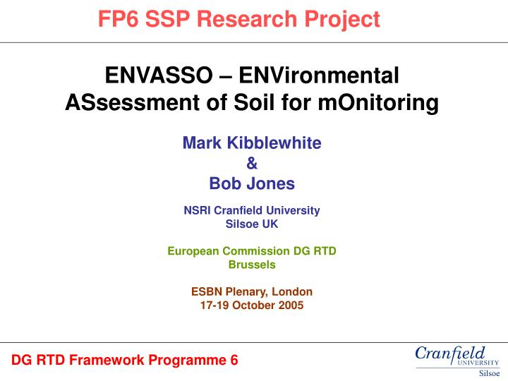 FP6 SSP Research Project