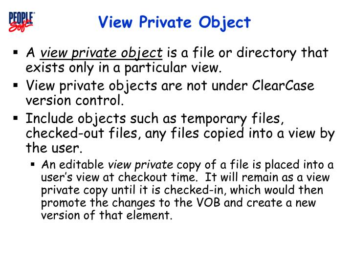 View Private Object