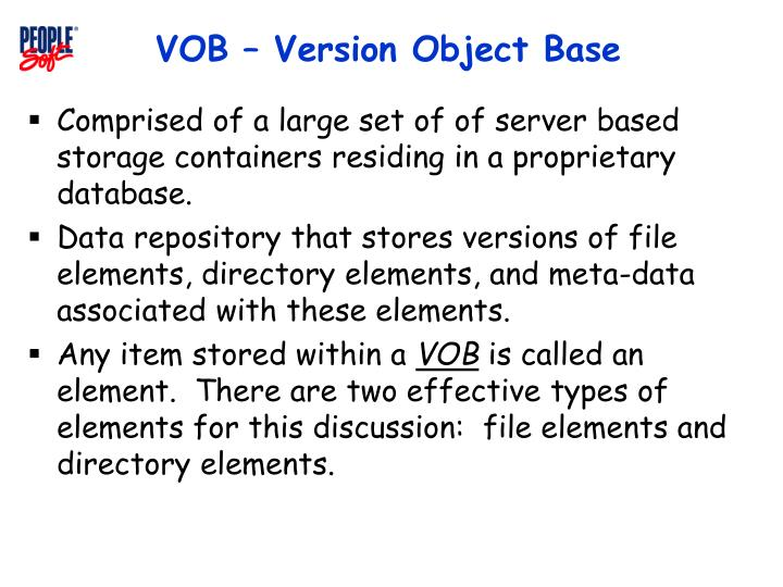 Vob version object base