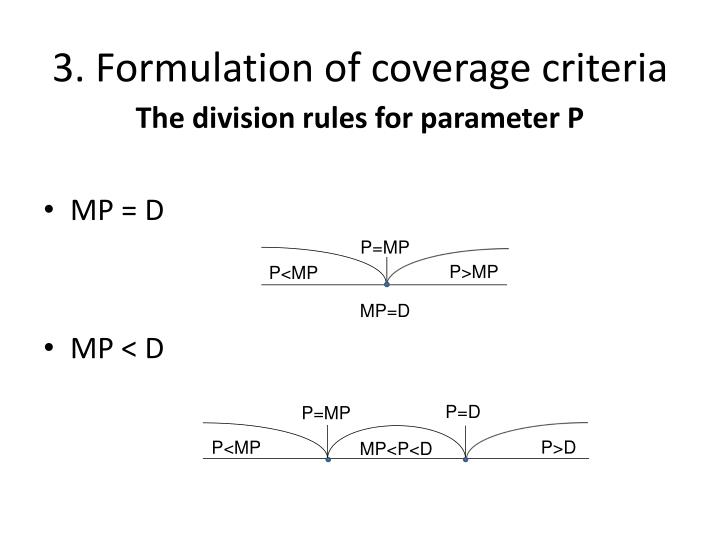 3. Formulation of coverage criteria
