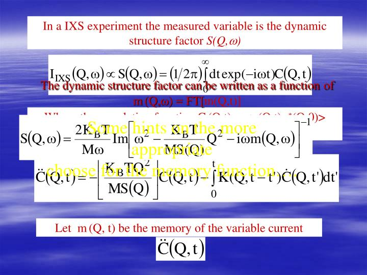 The dynamic structure factor can be written as a function