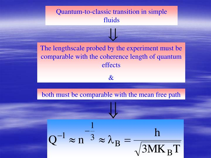 Quantum-to-classic transition in simple fluids