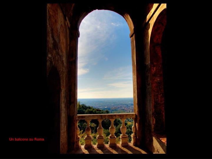 Un balcone su Roma