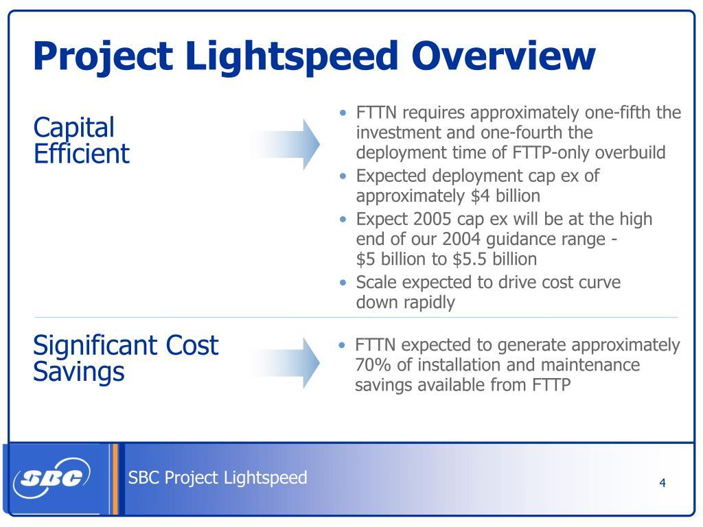 PPT - Project Lightspeed PowerPoint Presentation - ID:2996852