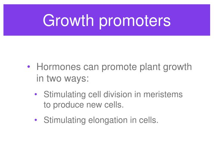 Growth promoters