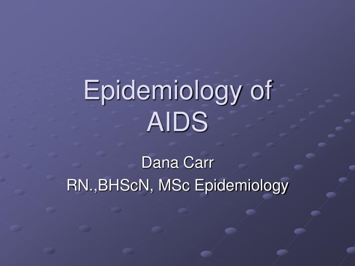epidemiology of aids n.