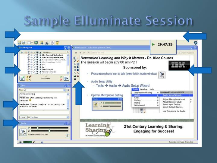 Sample Elluminate Session