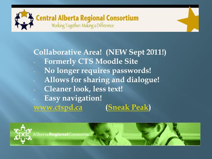 Collaborative Area!  (NEW Sept 2011!)