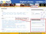 digital library updates 1