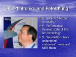 qps photronics and peter kung