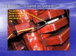 vibrofibre installed on generator1