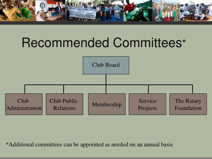 Recommended Committees