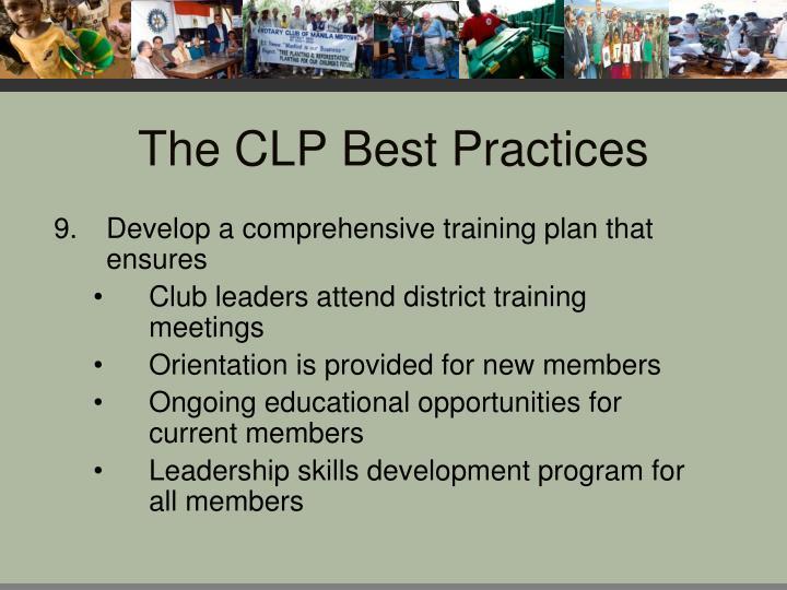 The CLP Best Practices