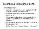 mechanical turbulence cont