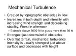 mechanical turbulence
