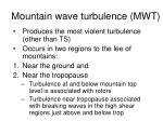 mountain wave turbulence mwt