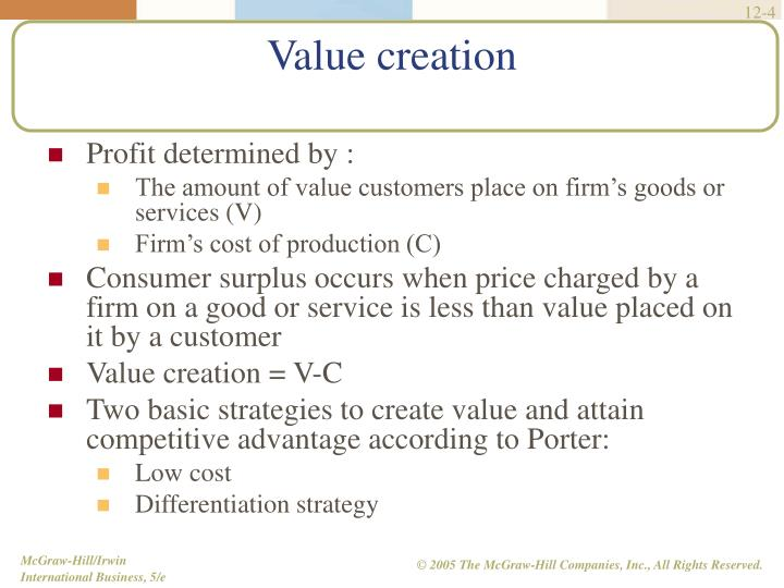 Profit determined by :