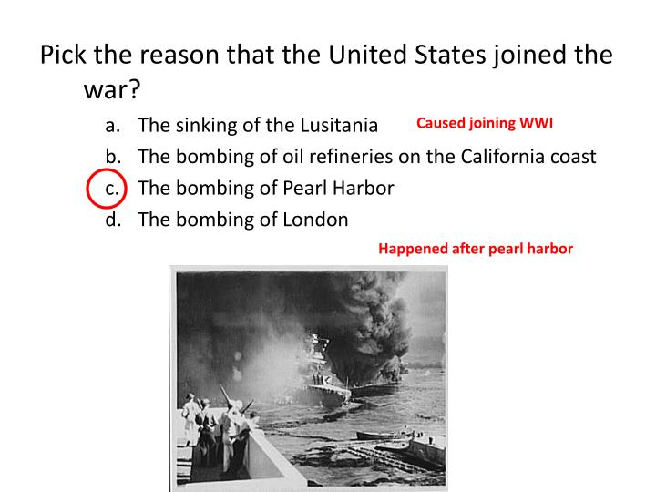 Caused joining WWI